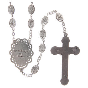 Rosary in metal Our Lady of Fatima 7x4 mm grains, antique silver effect s2