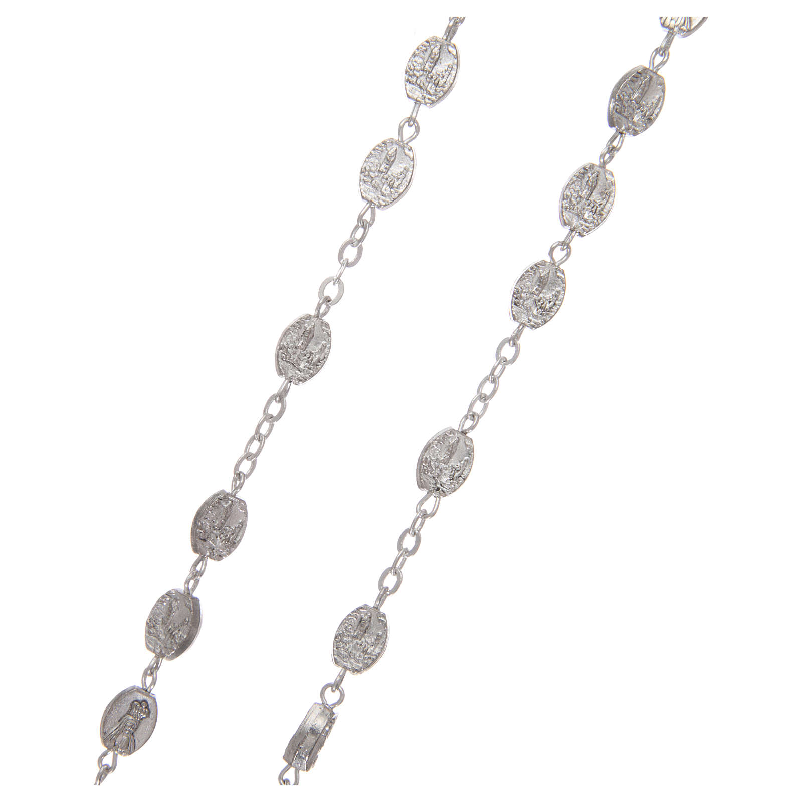 Różaniec metal Fatima 7x4 mm starożytne srebro 4