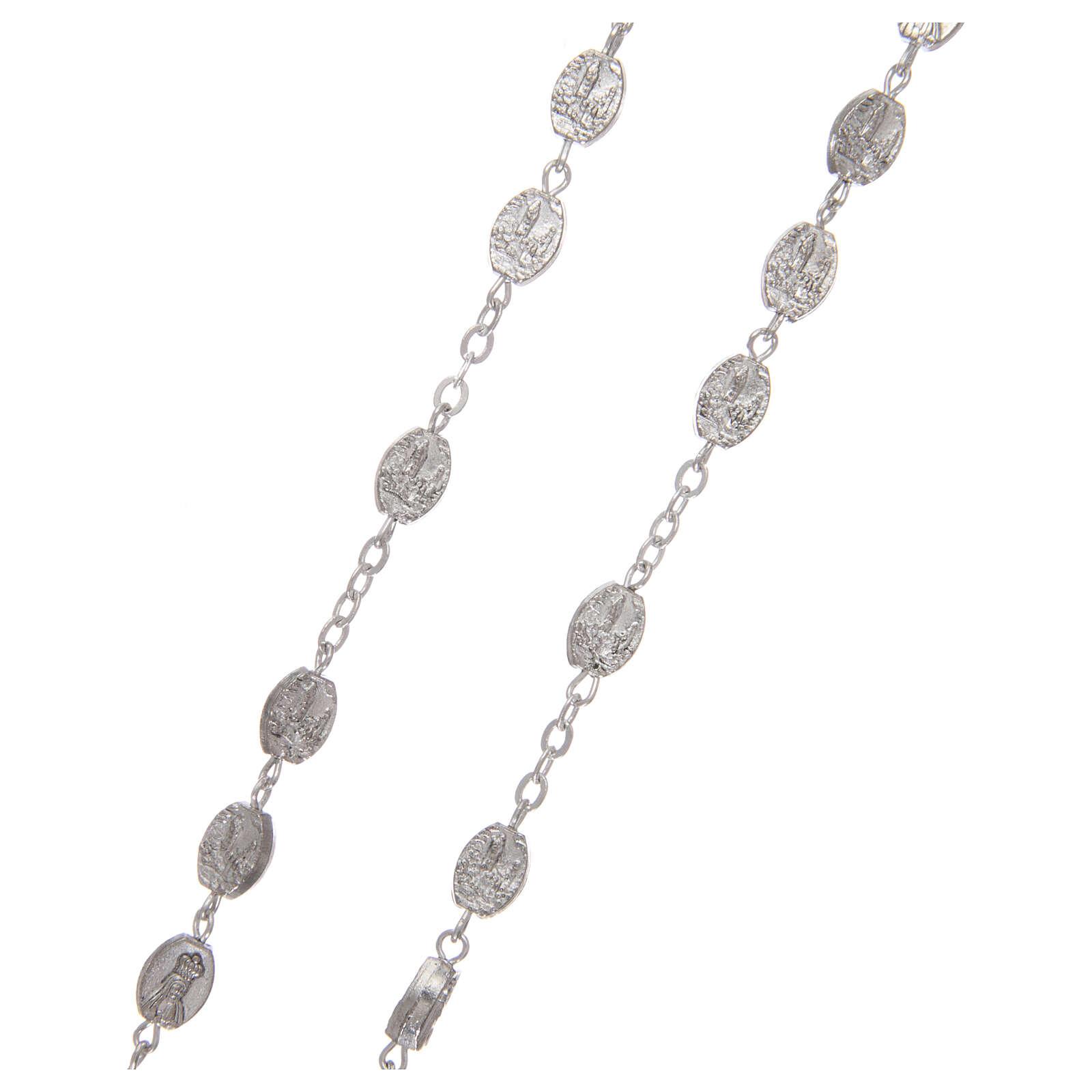 Metal rosary Fatima 7x4 mm old silver 4
