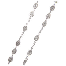 Metal rosary Fatima 7x4 mm old silver s3