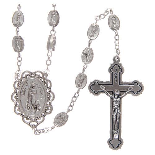 Metal rosary Fatima 7x4 mm old silver 1