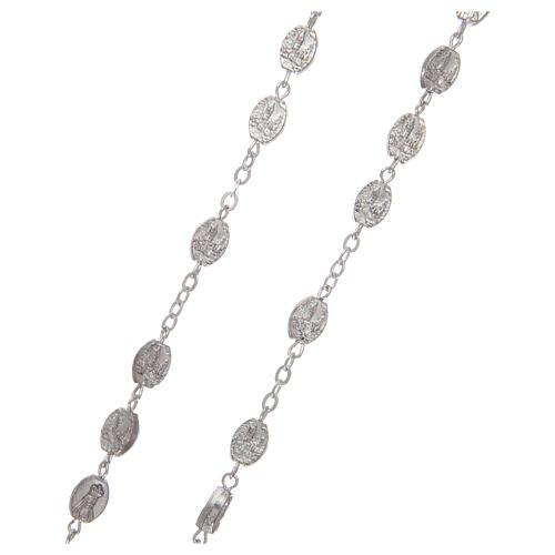 Metal rosary Fatima 7x4 mm old silver 3