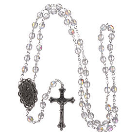 Rosary Our Lady of Fatima with Fatima soil 4x3 mm grains, crystal colour s4