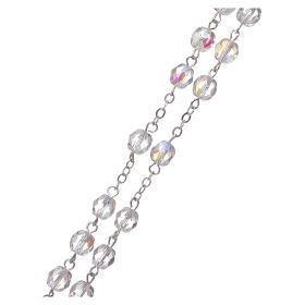 Crystal rosary Fatima soil dirt 4 mm transparent s3