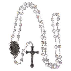Crystal rosary Fatima soil dirt 4 mm transparent s4