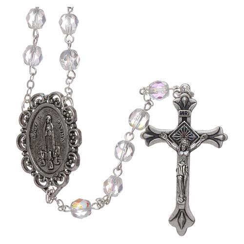 Crystal rosary Fatima soil dirt 4 mm transparent 1