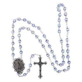 Rosary Our Lady of Fatima with Fatima soil 4x3 mm grains, blue s4
