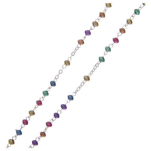 Rosario metallo multicolore 2 mm  3