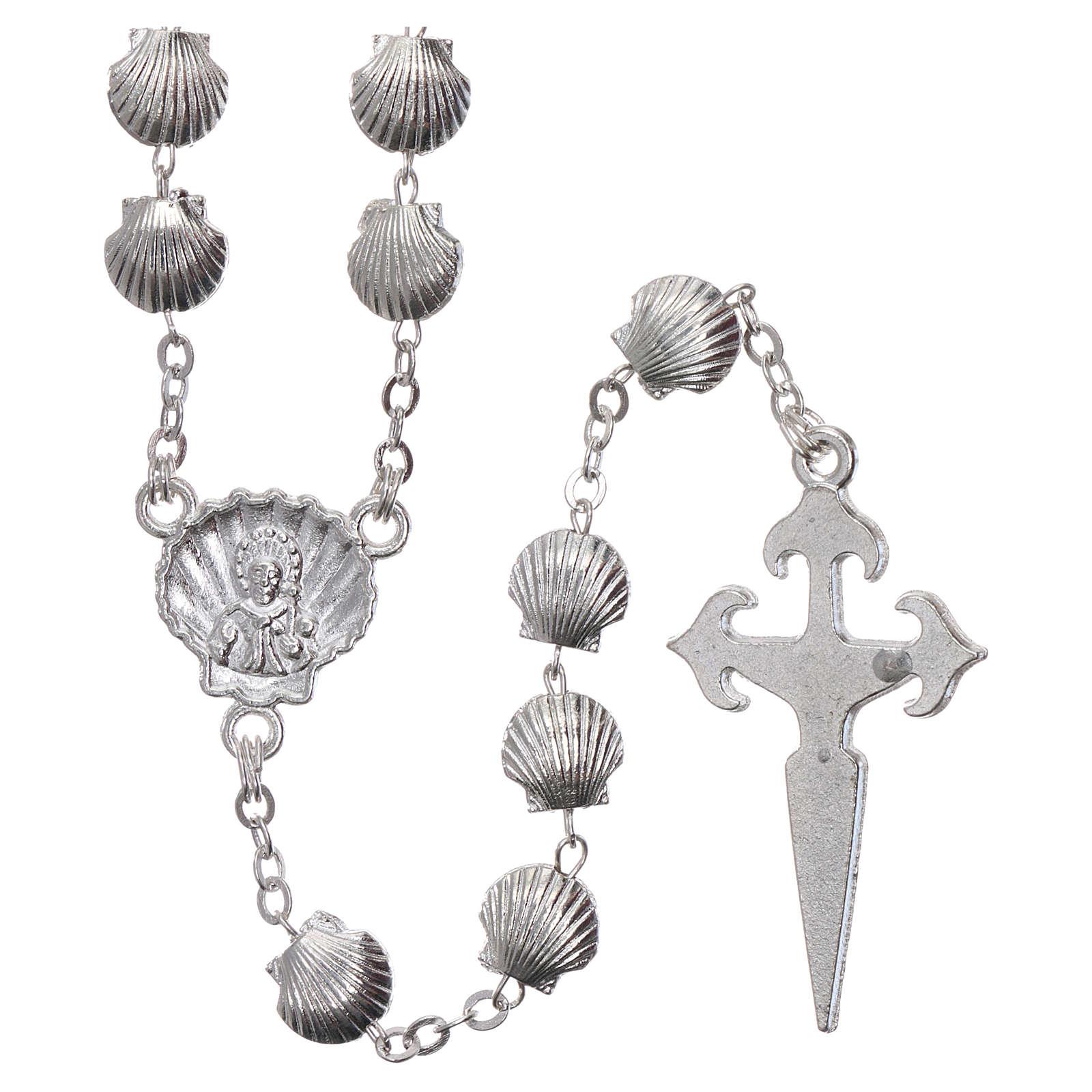 Rosenkranz aus Zamak Perlen in Muschelform 7 mm 4