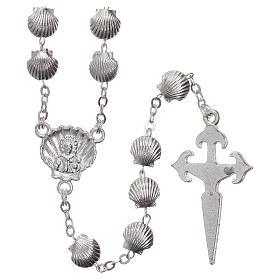 Rosenkranz aus Zamak Perlen in Muschelform 7 mm s2
