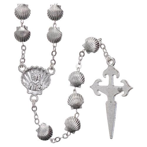 Rosenkranz aus Zamak Perlen in Muschelform 7 mm 2
