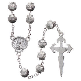 Rosary in zamak with 7x7 mm shell-shaped grains s2