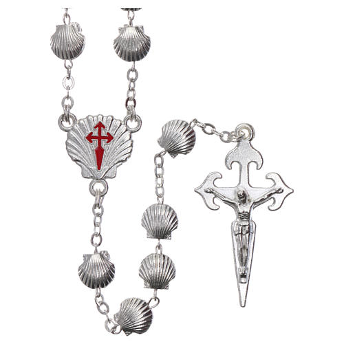 Rosary in zamak with 7x7 mm shell-shaped grains 1