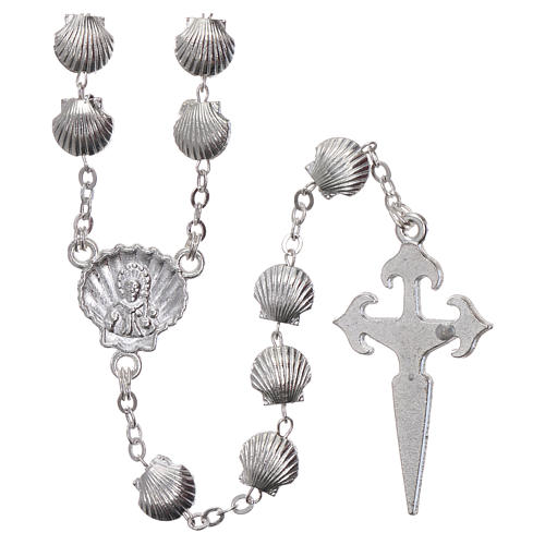 Rosary in zamak with 7x7 mm shell-shaped grains 2