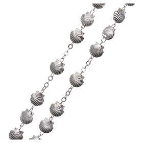 Rosario metallo devozionale grani a conchiglia in zama 7 mm s3