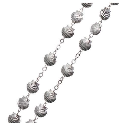 Rosario metallo devozionale grani a conchiglia in zama 7 mm 3