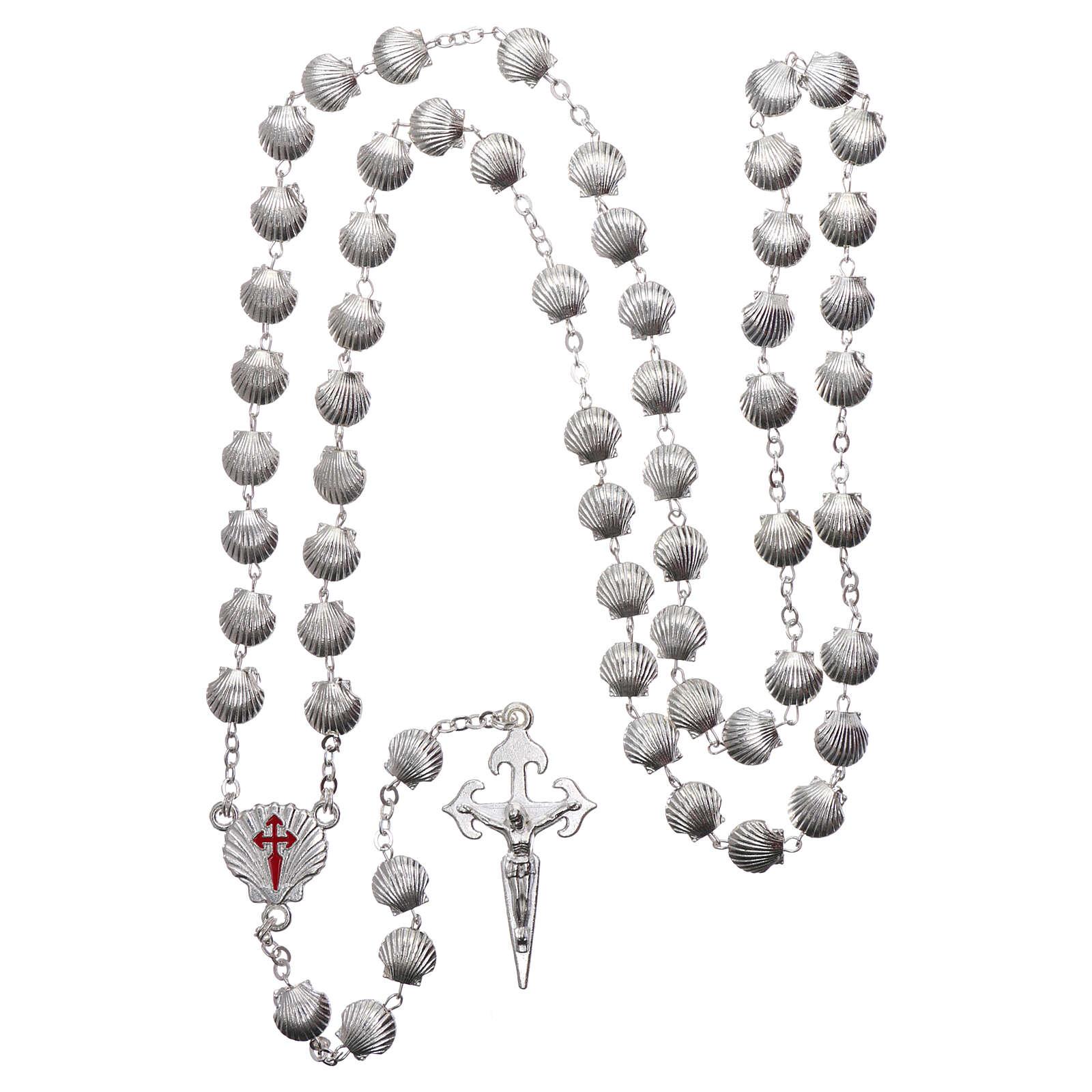 Devotional metal rosary shell shaped beads of zamak 7 mm 4