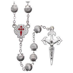 Devotional metal rosary shell shaped beads of zamak 7 mm s1