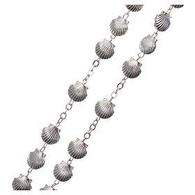Devotional metal rosary shell shaped beads of zamak 7 mm s3