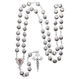Devotional metal rosary shell shaped beads of zamak 7 mm s4