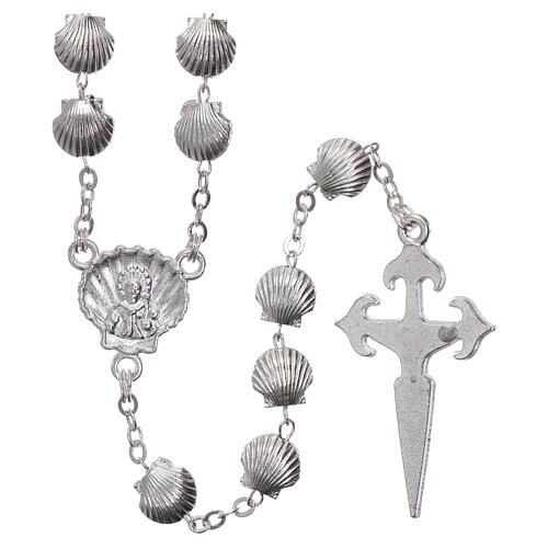 Devotional metal rosary shell shaped beads of zamak 7 mm 2