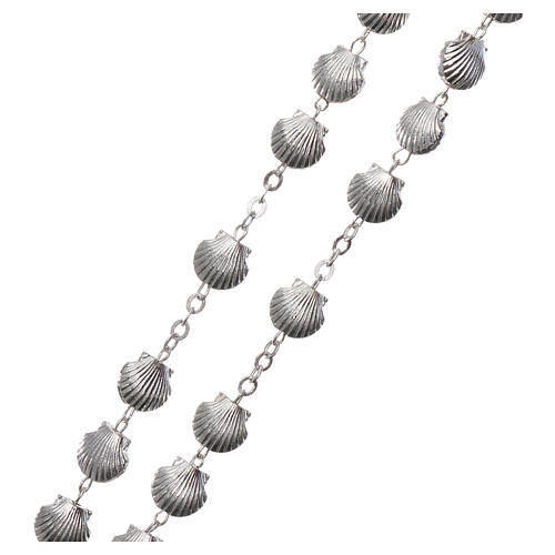 Devotional metal rosary shell shaped beads of zamak 7 mm 3