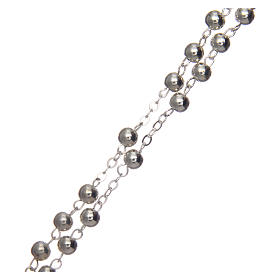 Rosary in silver-plated metal with handmade thread 5 mm s3