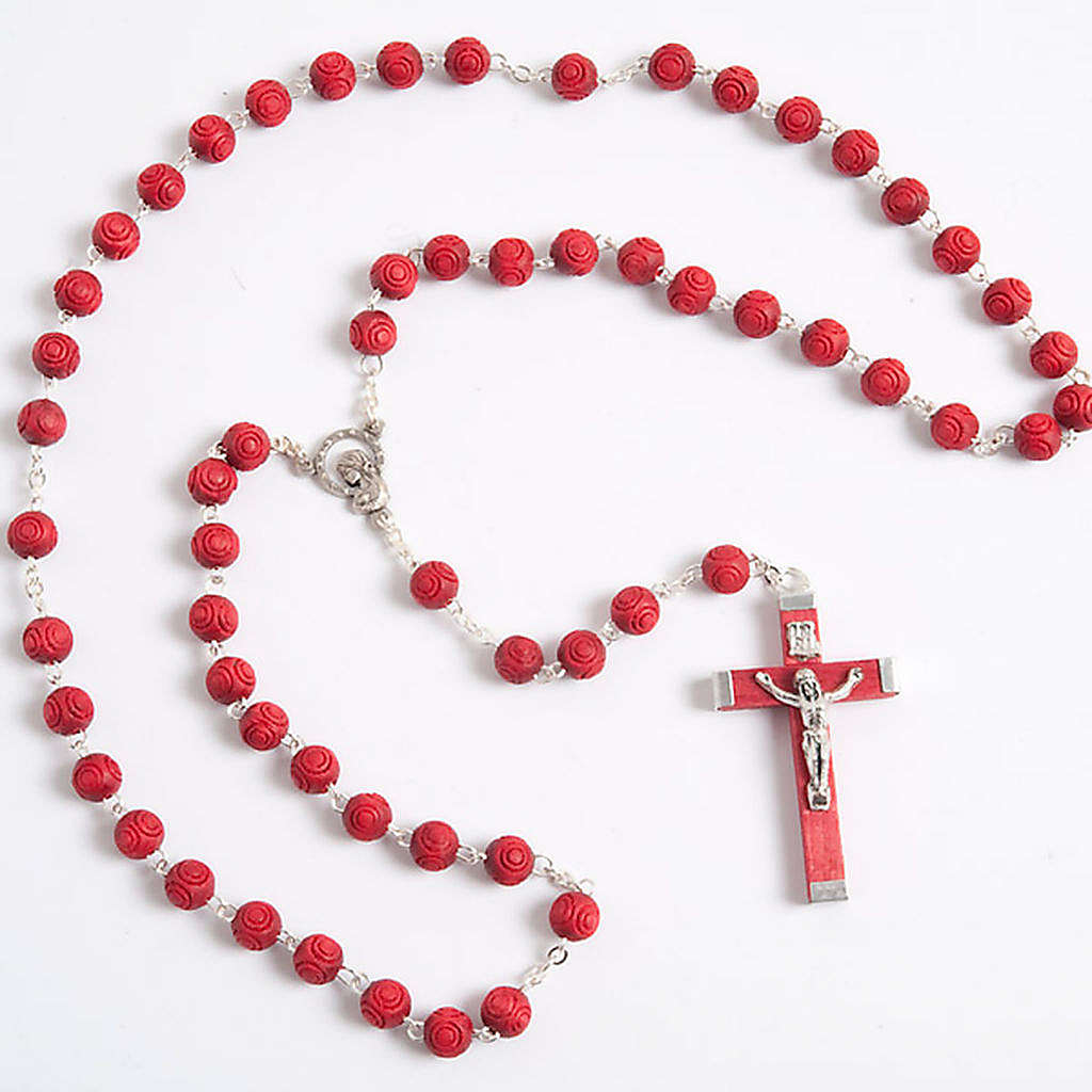 Rose-scented inlayed rosary 4