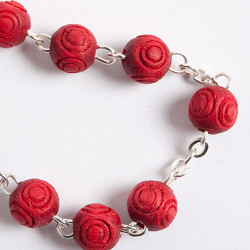 Rose-scented inlayed rosary 3