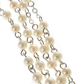 Imitation pearl rosary, First Communion 4mm s4