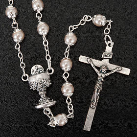 First Communion pearl effect rosary s4