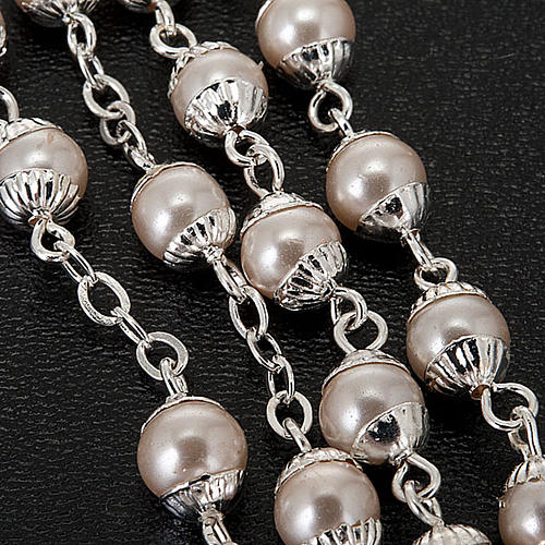 First Communion pearl effect rosary 2