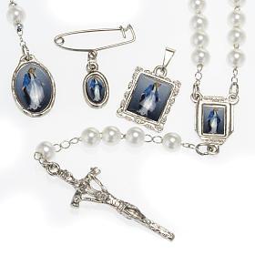 Kit, rosario, decena, medallas de la Virgen de la Milagrosa s1