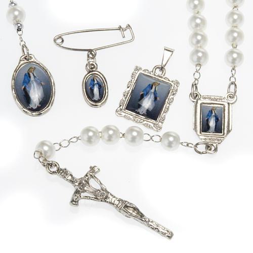 Rosario, decina, medaglie Madonna Miracolosa 1
