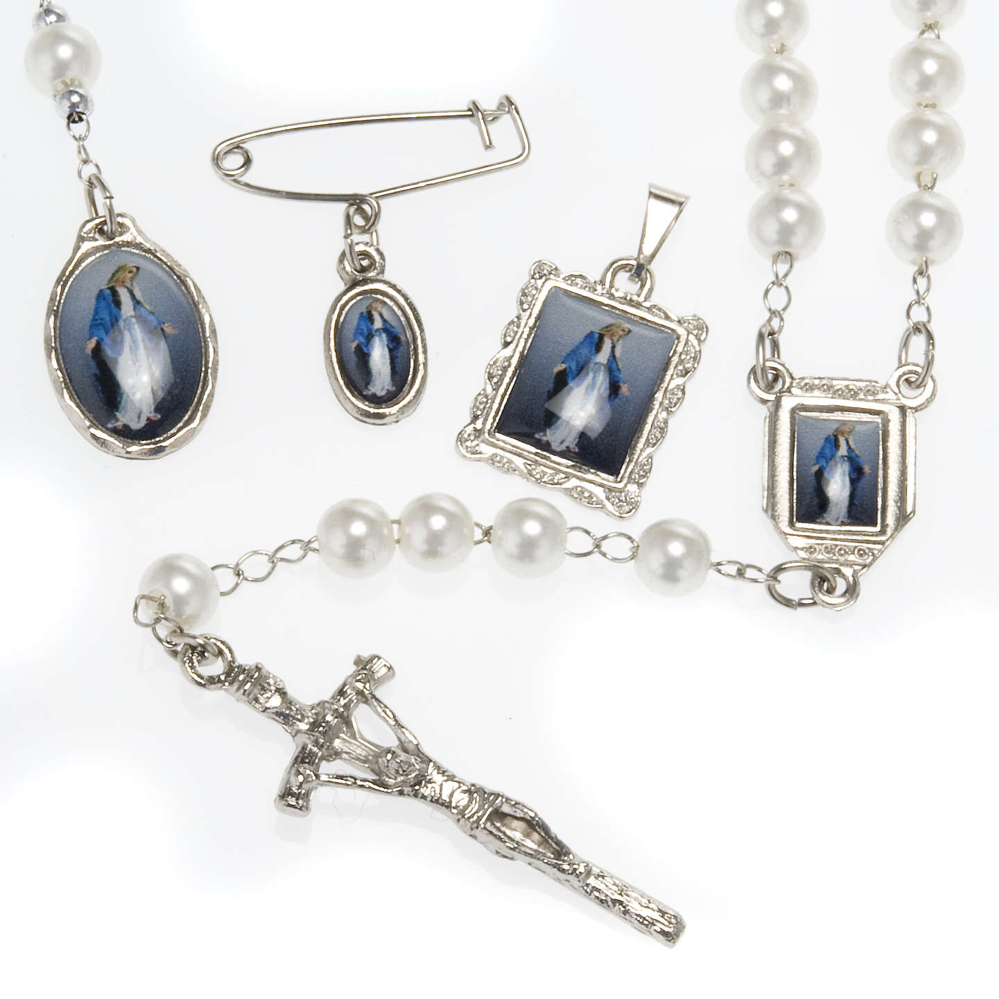 Single decade rosary, Miraculous Medal 4