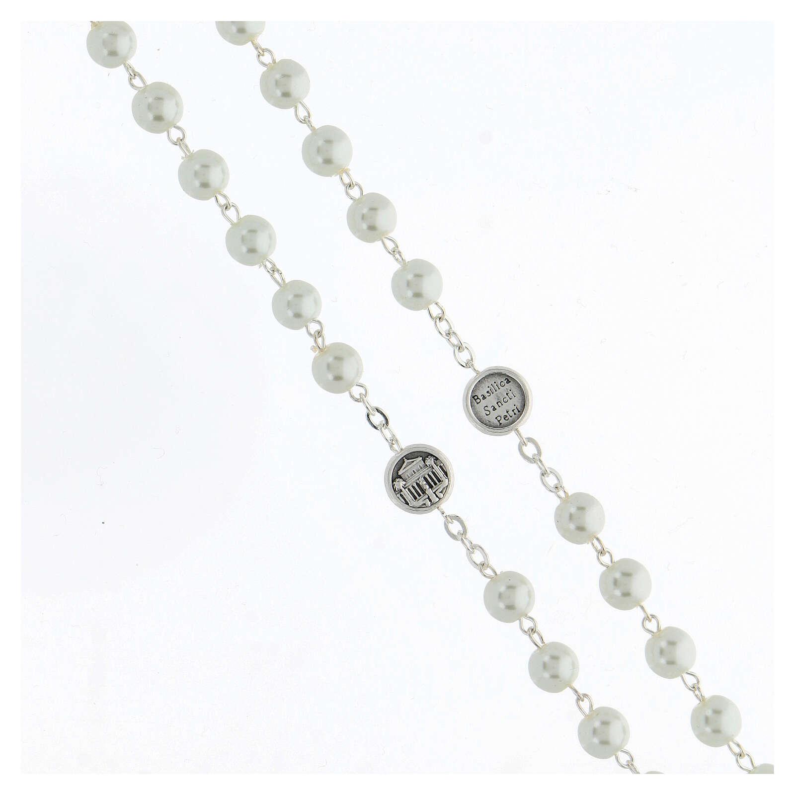 Imitation pearl rosary, Pope Francis 4