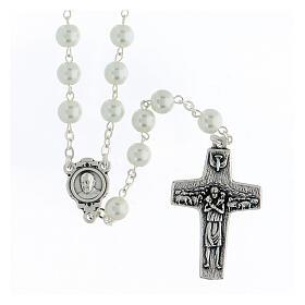 Imitation pearl rosary, Pope Francis s1