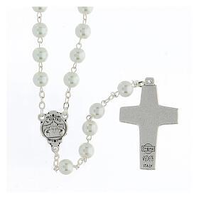Imitation pearl rosary, Pope Francis s2