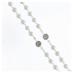 Imitation pearl rosary, Pope Francis s3