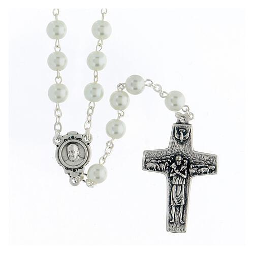 Imitation pearl rosary, Pope Francis 1