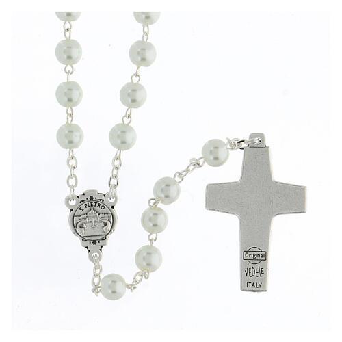 Imitation pearl rosary, Pope Francis 2