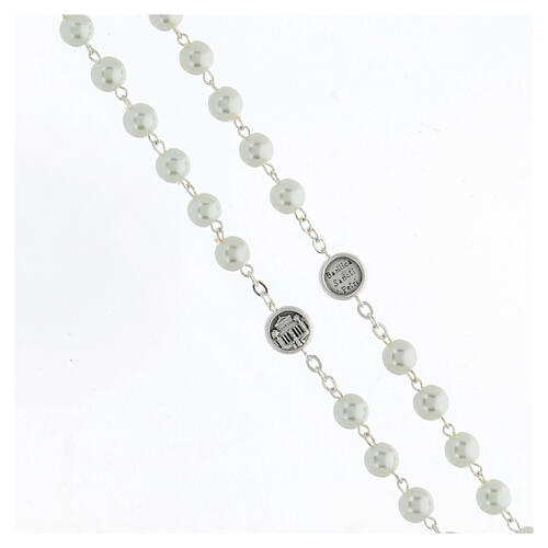 Imitation pearl rosary, Pope Francis 3