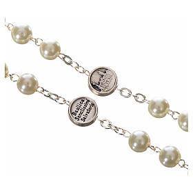 Imitation pearl rosary, Pope Francis s4