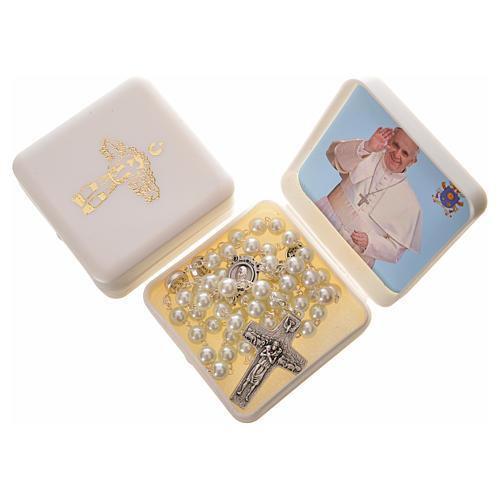 Imitation pearl rosary, Pope Francis 5