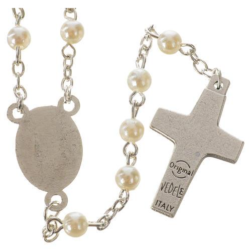 Rosenkranz Papst Franziskus Kunstperlmutt Perlen 5mm 2