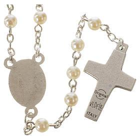 Rosario Papa Francisco imitación perla 5 mm s2