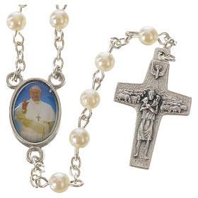 Chapelet Pape François imitation nacre 5 mm s1