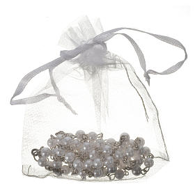 Communion rosary, pearl-like beads 5mm s4