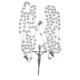 Doble rosario de boda con cuentas nacaradas s3
