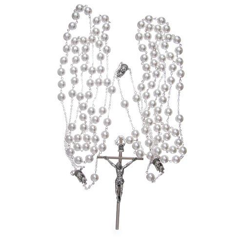 Doble rosario de boda con cuentas nacaradas 3